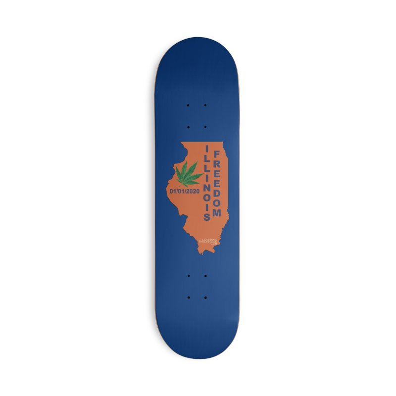 Illinois Marijuana Freedom Shirt Accessories Deck Only Skateboard by Leading Artist Shop