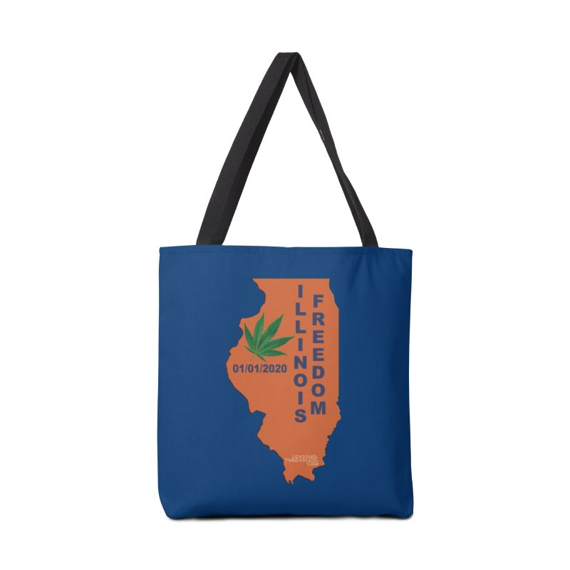 Illinois Marijuana Freedom Shirt Accessories Tote Bag Bag by Leading Artist Shop