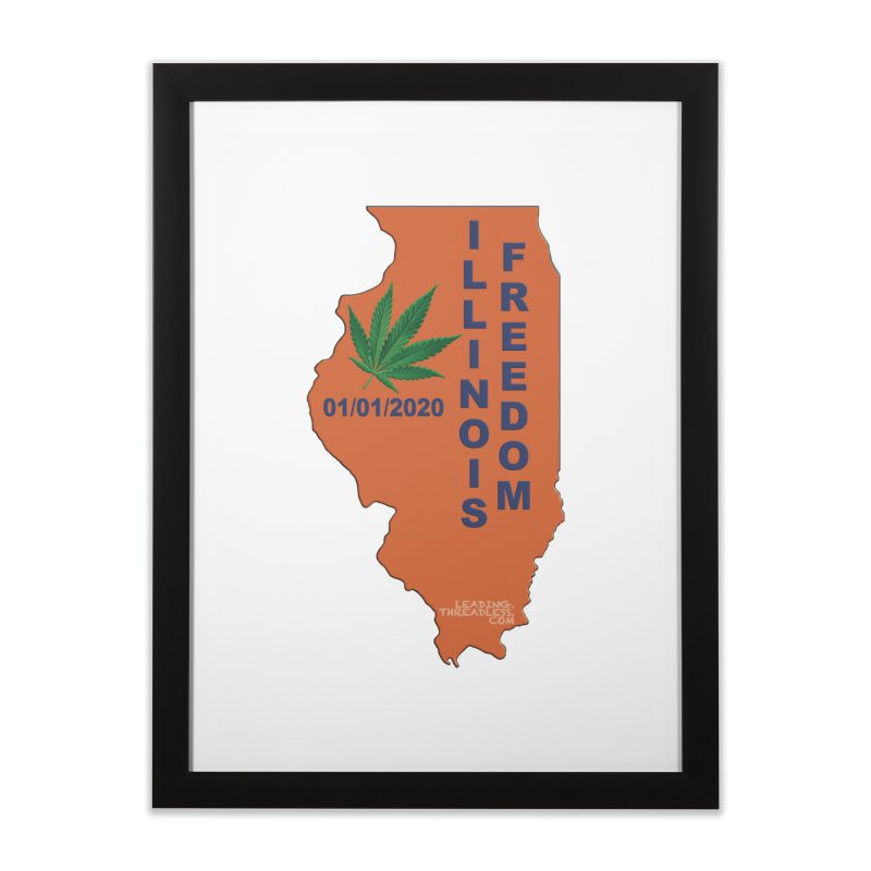 Illinois Marijuana Freedom Shirt Home Framed Fine Art Print by Leading Artist Shop