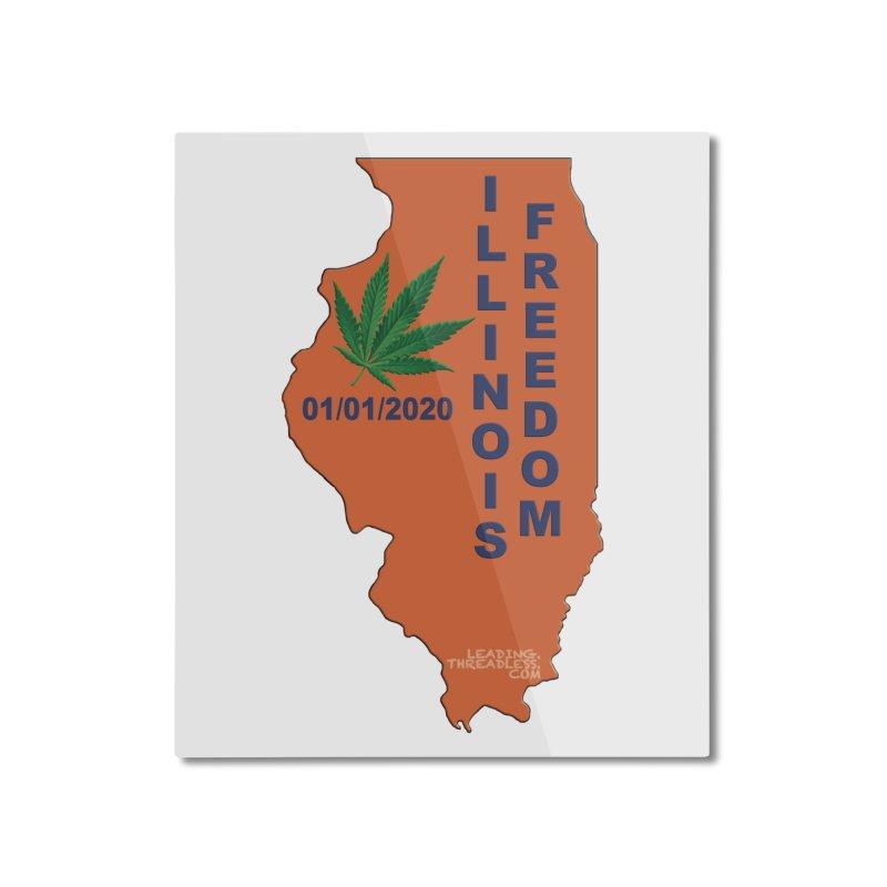 Illinois Marijuana Freedom Shirt Home Mounted Aluminum Print by Leading Artist Shop
