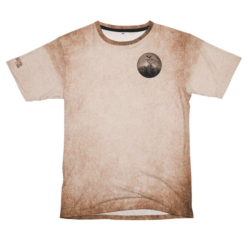 Halloween Moon With Bats Women's Unisex T-Shirt Cut & Sew by Leading Artist Shop