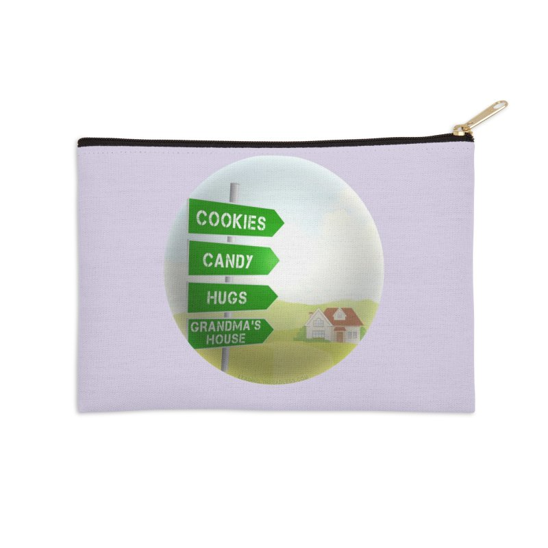 Cookies Candy Hugs Grandmas House Accessories Zip Pouch by Leading Artist Shop