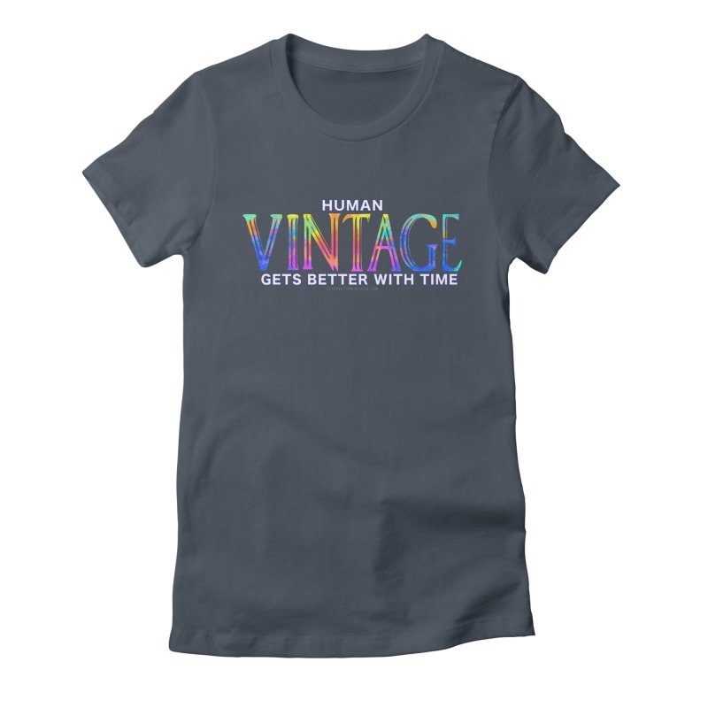 Vintage Human Shirt Women's Fitted T-Shirt by Leading Artist Shop