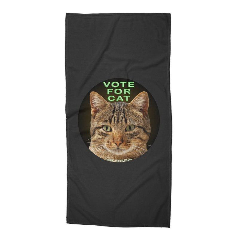 Vote For Cat Accessories Beach Towel by Leading Artist Shop