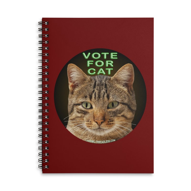 Vote For Cat Accessories Lined Spiral Notebook by Leading Artist Shop