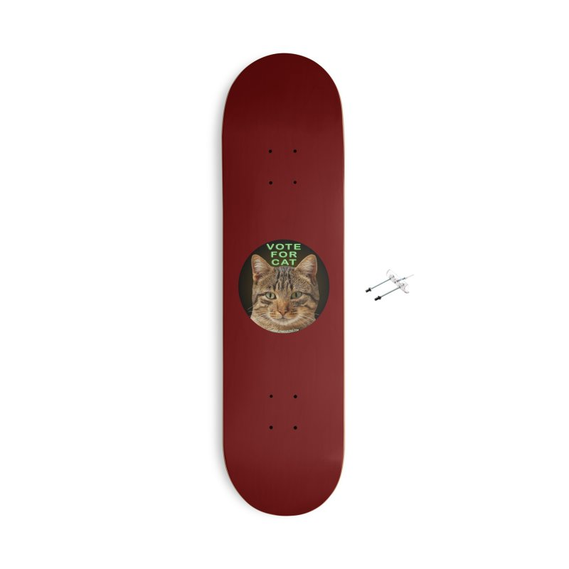 Vote For Cat Accessories Skateboard by Leading Artist Shop