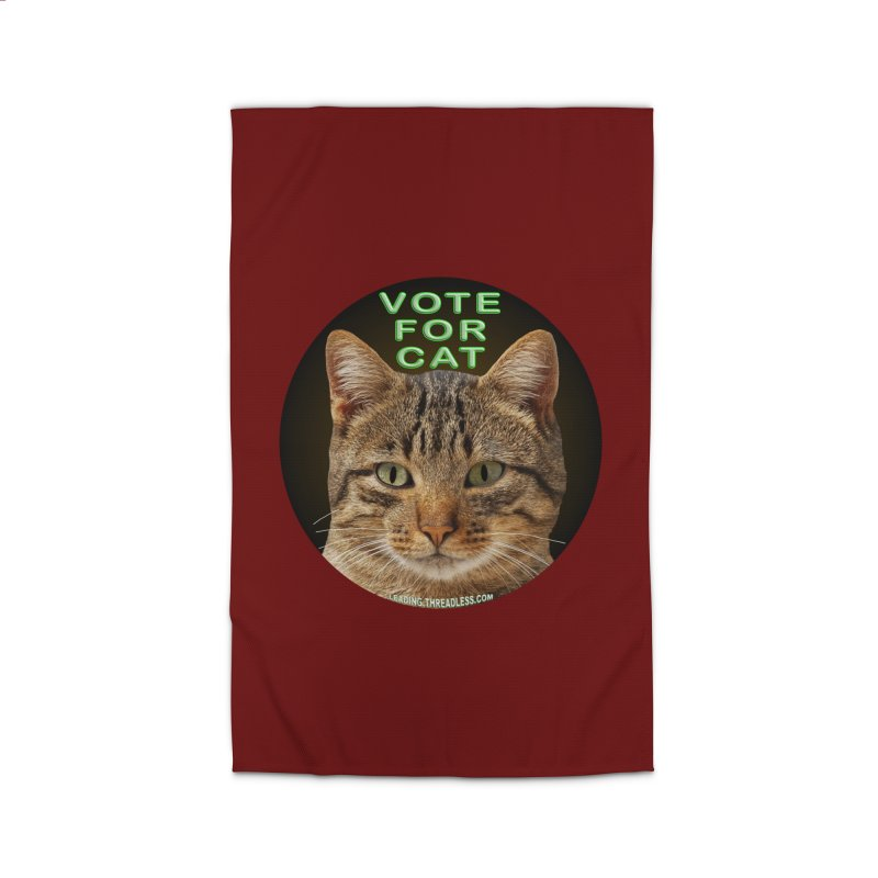 Vote For Cat Home Rug by Leading Artist Shop