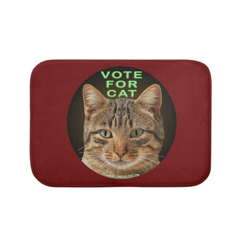 Vote For Cat Home Bath Mat by Leading Artist Shop