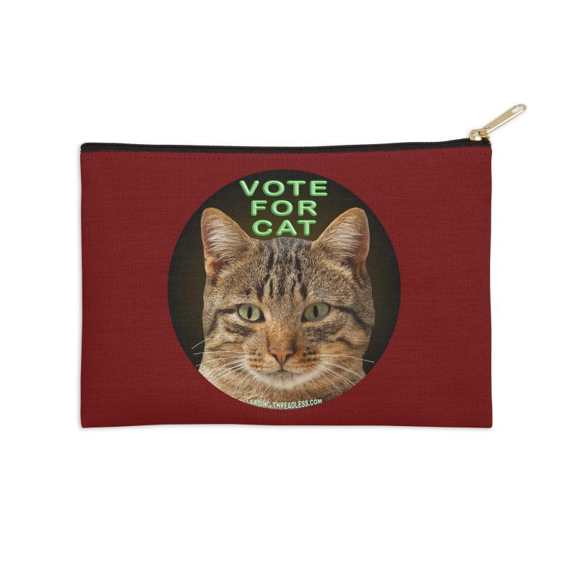 Vote For Cat Accessories Zip Pouch by Leading Artist Shop