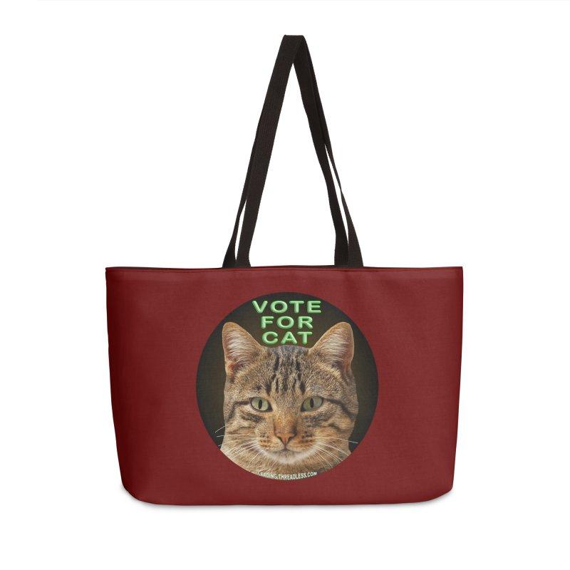 Vote For Cat Accessories Weekender Bag Bag by Leading Artist Shop