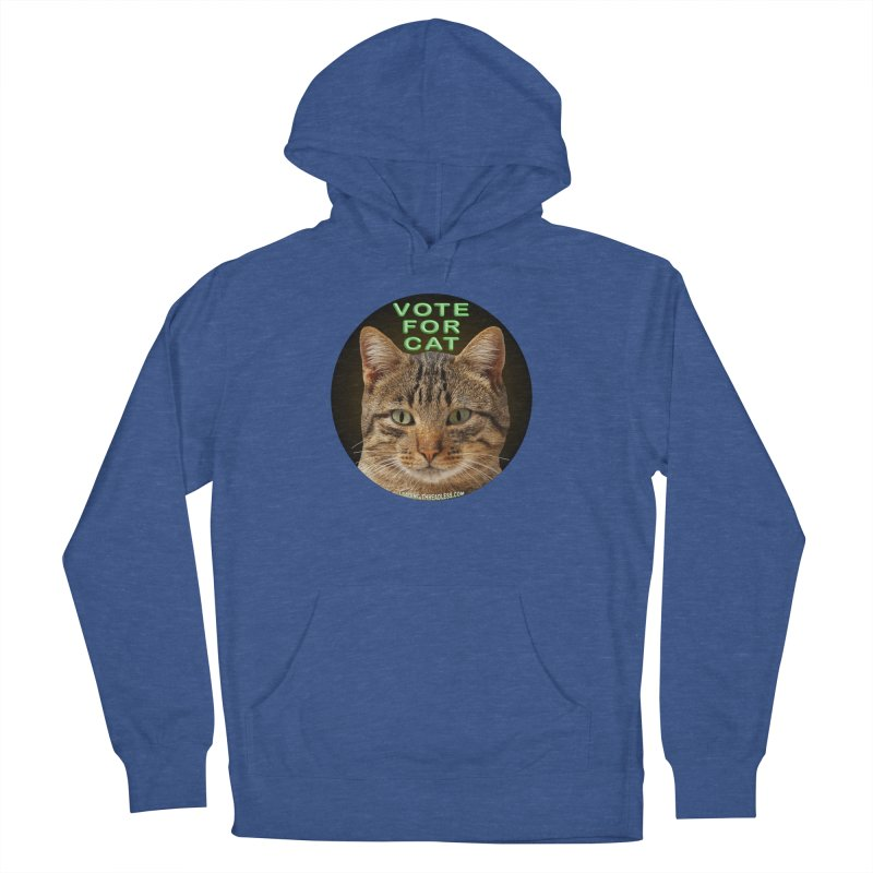 Vote For Cat Women's French Terry Pullover Hoody by Leading Artist Shop