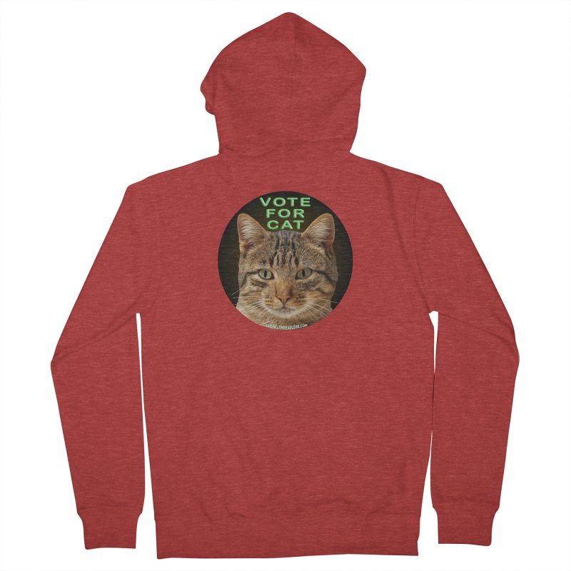 Vote For Cat Men's French Terry Zip-Up Hoody by Leading Artist Shop