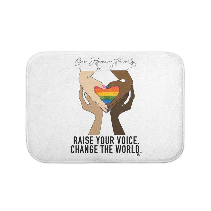 Raise Your Voice Home Bath Mat by Leading Artist Shop