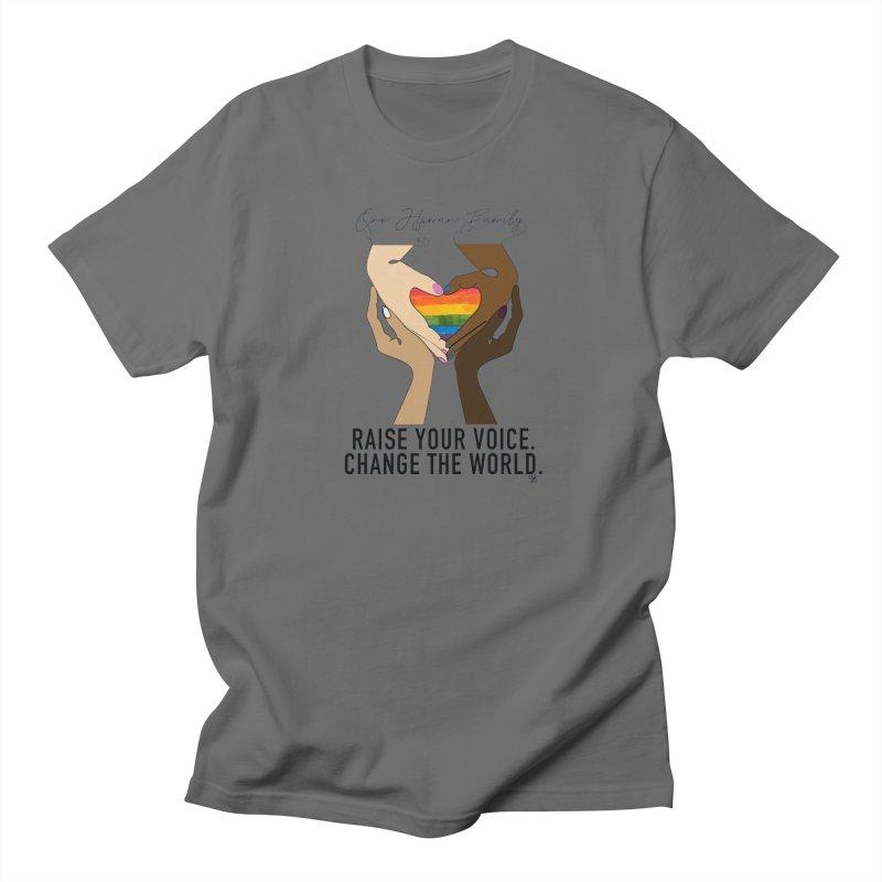 Raise Your Voice Men's T-Shirt by Leading Artist Shop