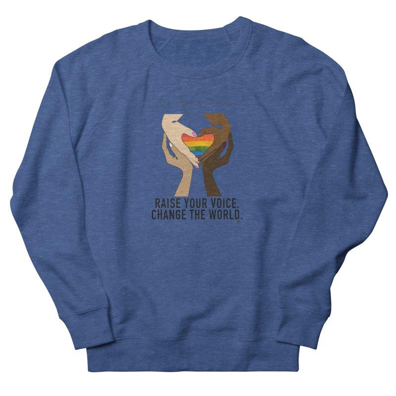 Raise Your Voice Men's Sweatshirt by Leading Artist Shop