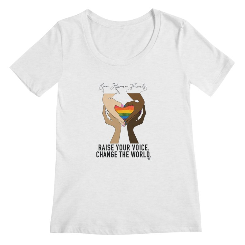 Raise Your Voice Women's Regular Scoop Neck by Leading Artist Shop