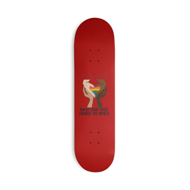 Raise Your Voice Accessories Deck Only Skateboard by Leading Artist Shop