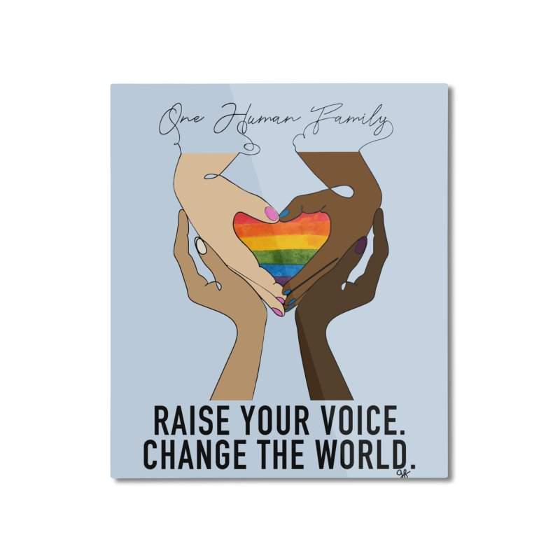 Raise Your Voice Home Mounted Aluminum Print by Leading Artist Shop