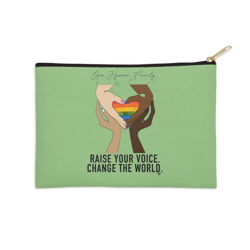 Raise Your Voice Accessories Zip Pouch by Leading Artist Shop