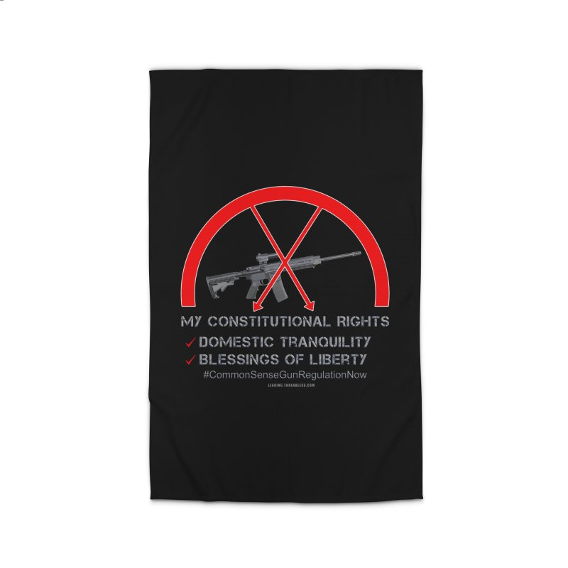 My Constitutional Rights Common Sense Gun Control Home Rug by Leading Artist Shop