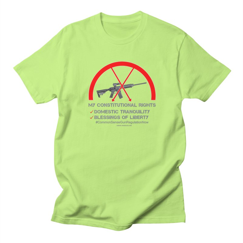 My Constitutional Rights Common Sense Gun Control Men's Regular T-Shirt by Leading Artist Shop
