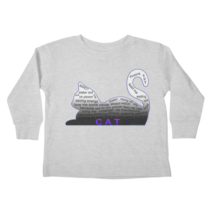 Cat Shirt That Says It All Cat Rules Kids Toddler Longsleeve T-Shirt by Leading Artist Shop