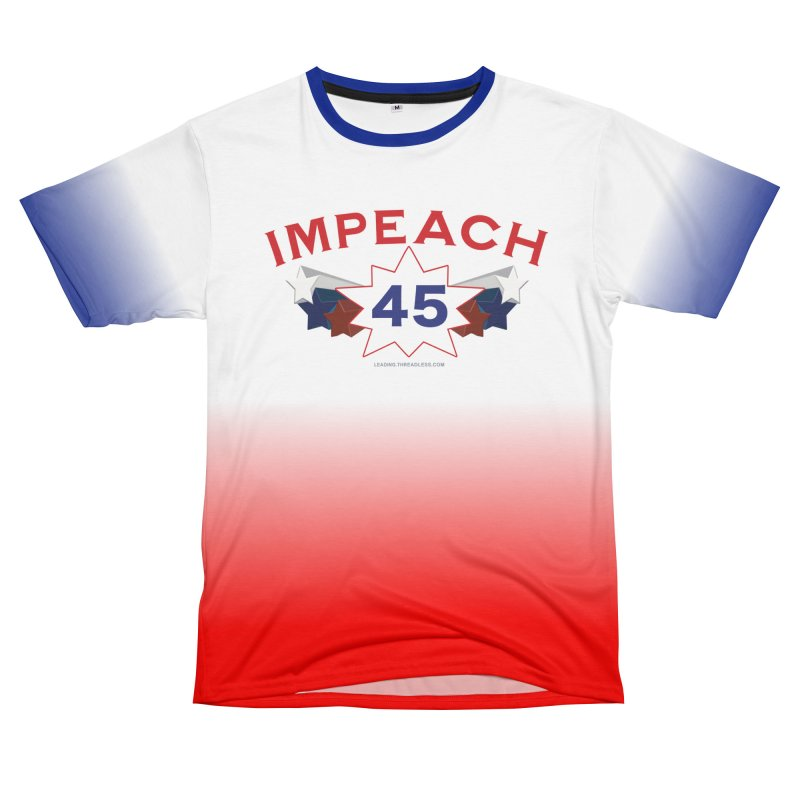 Impeach 45 With Stars Men's T-Shirt Cut & Sew by Leading Artist Shop