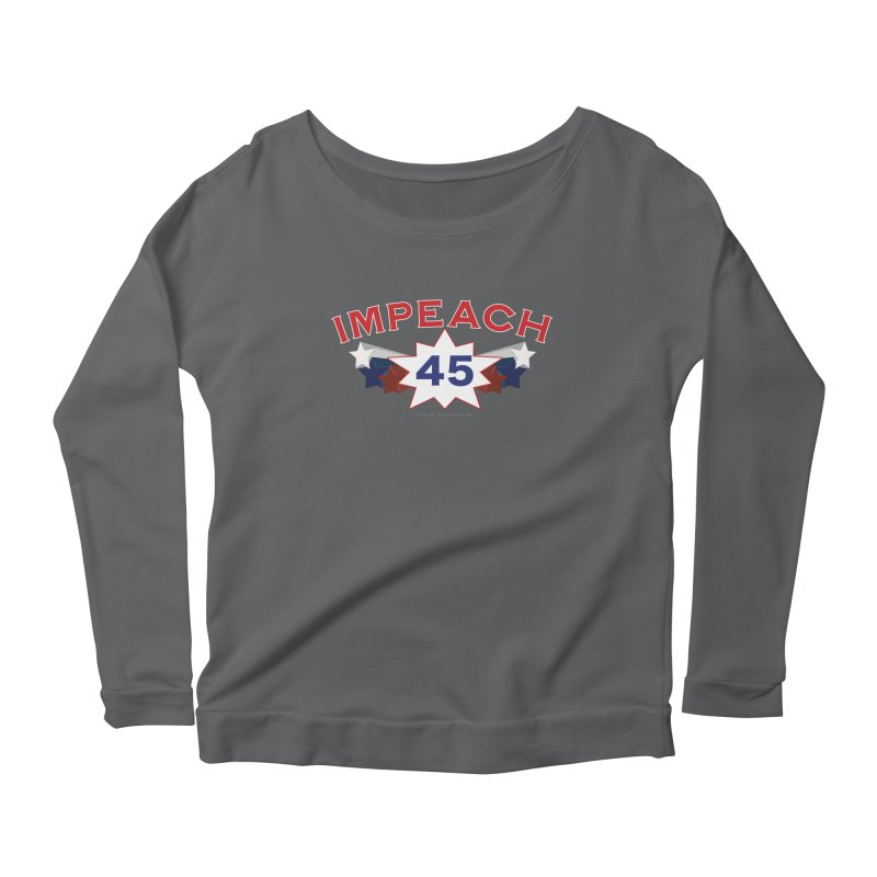 Impeach 45 With Stars Women's Scoop Neck Longsleeve T-Shirt by Leading Artist Shop