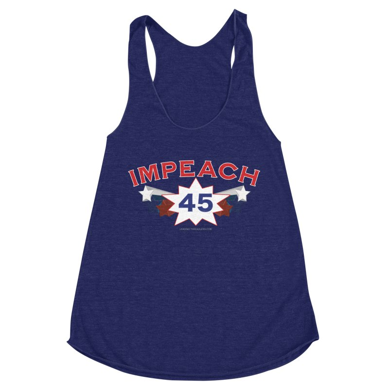 Impeach 45 With Stars Women's Racerback Triblend Tank by Leading Artist Shop
