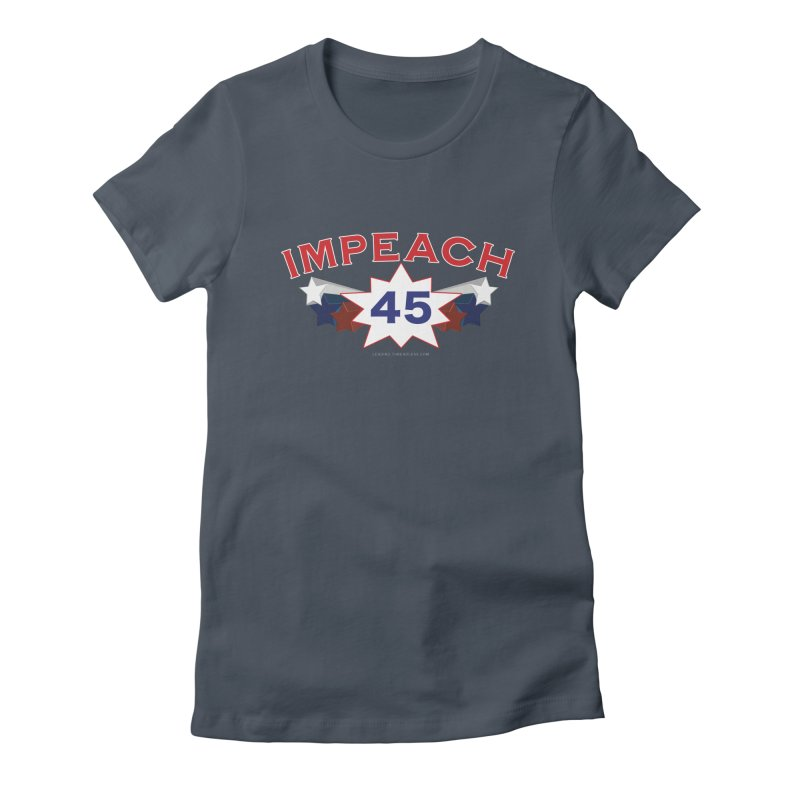 Impeach 45 With Stars Women's T-Shirt by Leading Artist Shop