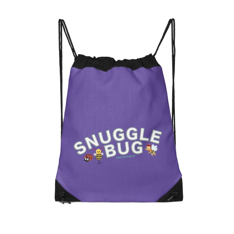 Snuggle Bug Onesie Shirts n More Accessories Drawstring Bag Bag by Leading Artist Shop