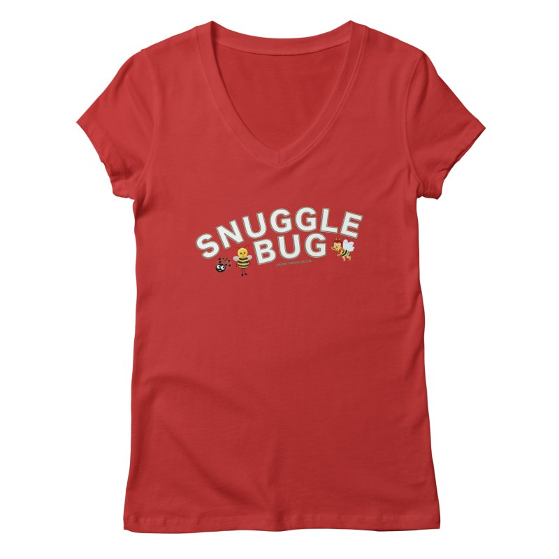 Snuggle Bug Onesie Shirts n More Women's Regular V-Neck by Leading Artist Shop