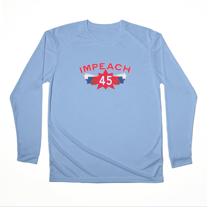 Impeach 45 Shirts Red White Blue Men's Performance Longsleeve T-Shirt by Leading Artist Shop