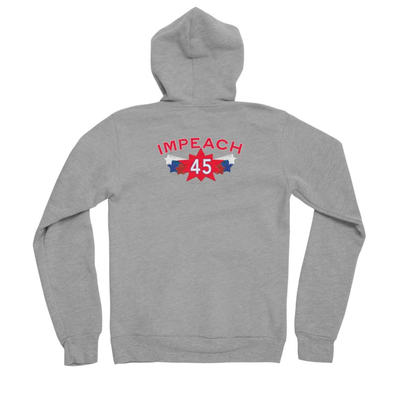 Impeach 45 Shirts Red White Blue Men's Sponge Fleece Zip-Up Hoody by Leading Artist Shop