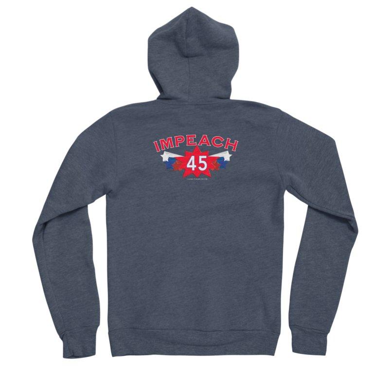 Impeach 45 Shirts Red White Blue Women's Sponge Fleece Zip-Up Hoody by Leading Artist Shop
