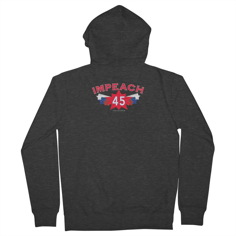 Impeach 45 Shirts Red White Blue Women's French Terry Zip-Up Hoody by Leading Artist Shop