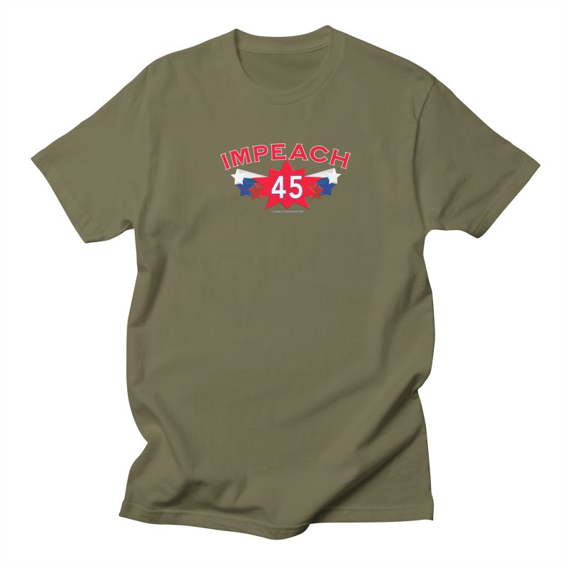 Impeach 45 Shirts Red White Blue Women's Regular Unisex T-Shirt by Leading Artist Shop