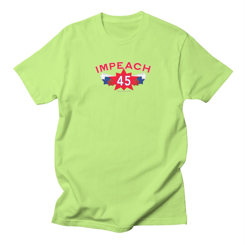 Impeach 45 Shirts Red White Blue Men's Regular T-Shirt by Leading Artist Shop