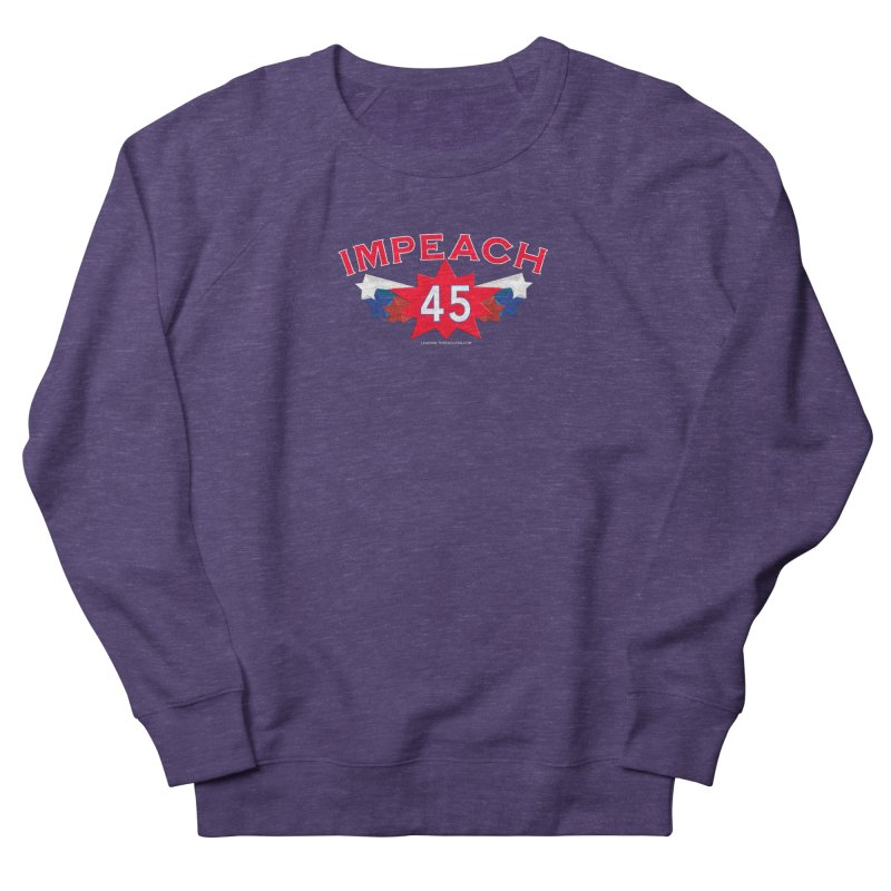 Impeach 45 Shirts Red White Blue Women's French Terry Sweatshirt by Leading Artist Shop