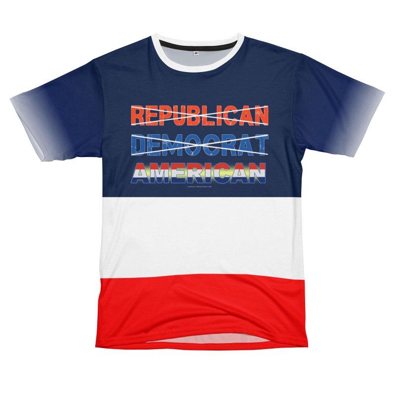 Republican Democrat American Shirts Women's Unisex T-Shirt Cut & Sew by Leading Artist Shop