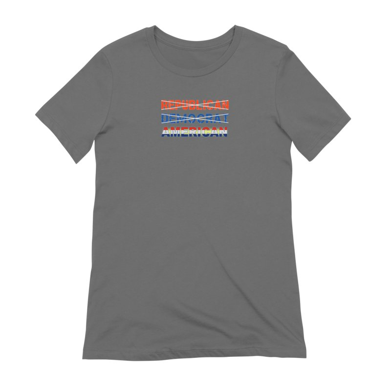 Republican Democrat American Shirts Women's Extra Soft T-Shirt by Leading Artist Shop