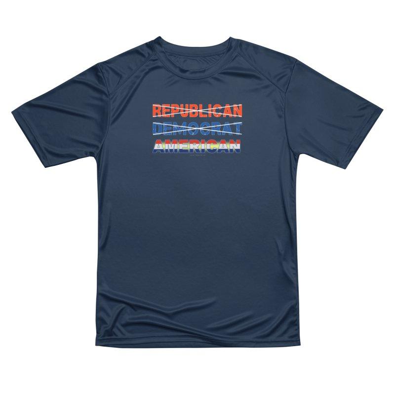 Republican Democrat American Shirts Women's Performance Unisex T-Shirt by Leading Artist Shop