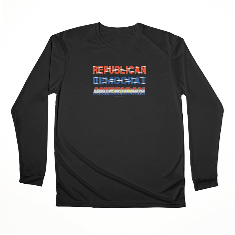Republican Democrat American Shirts Women's Performance Unisex Longsleeve T-Shirt by Leading Artist Shop