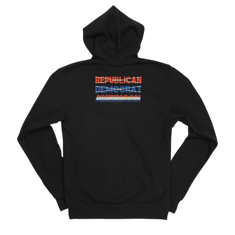 Republican Democrat American Shirts Women's Sponge Fleece Zip-Up Hoody by Leading Artist Shop