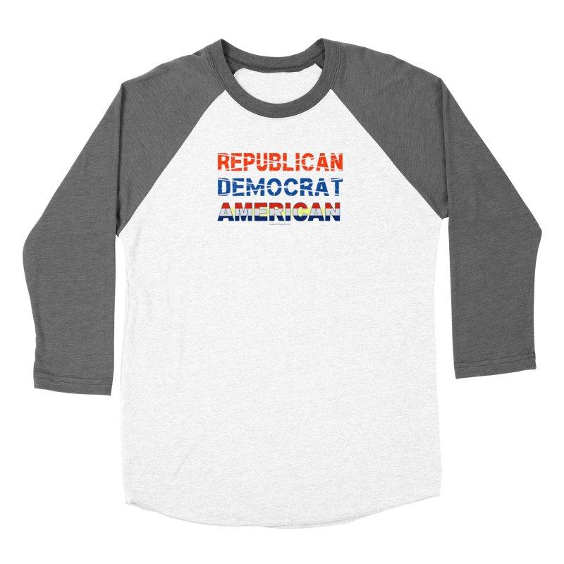 Republican Democrat American Shirts Men's Baseball Triblend Longsleeve T-Shirt by Leading Artist Shop
