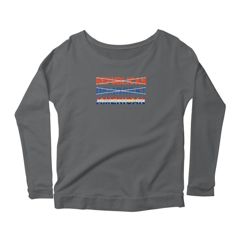 Republican Democrat American Shirts Women's Scoop Neck Longsleeve T-Shirt by Leading Artist Shop