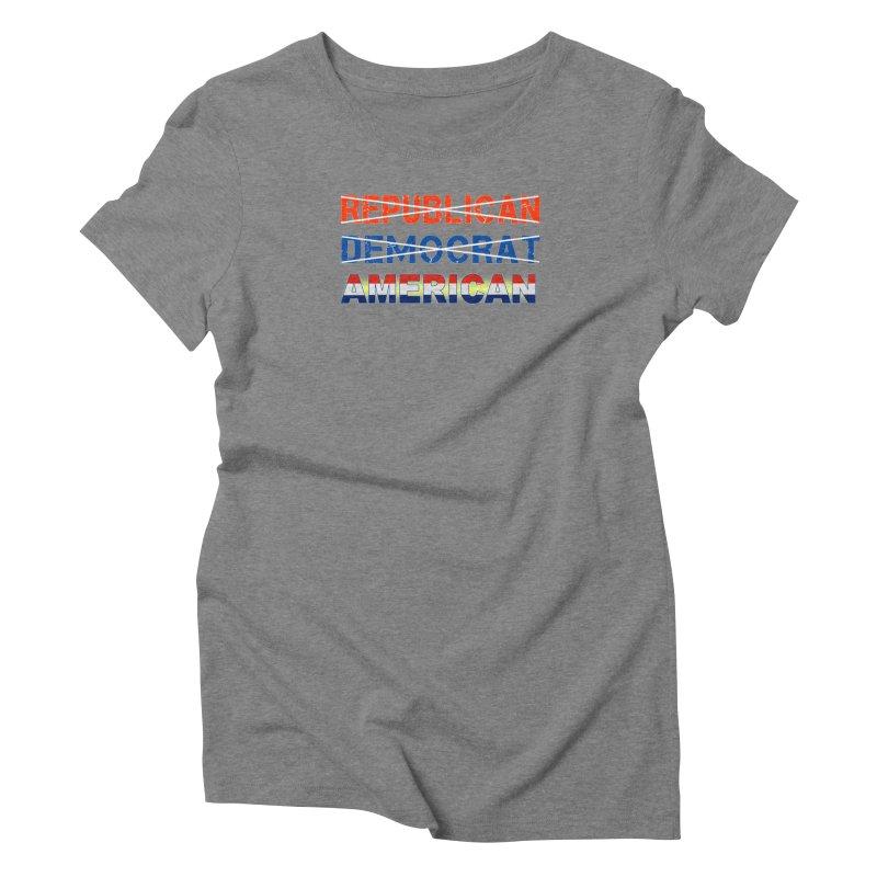 Republican Democrat American Shirts Women's Triblend T-Shirt by Leading Artist Shop