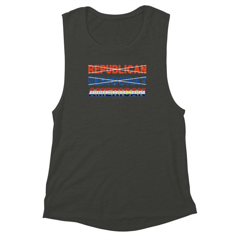Republican Democrat American Shirts Women's Muscle Tank by Leading Artist Shop
