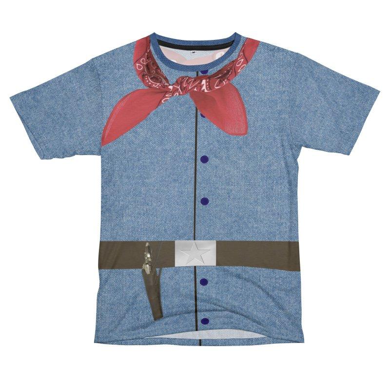 Cowboy Shirt Women's Unisex T-Shirt Cut & Sew by Leading Artist Shop