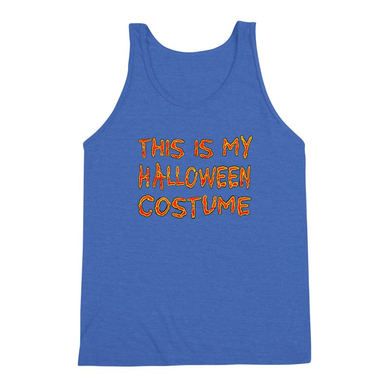 This Is My Halloween Costume Shirt Men's Triblend Tank by Leading Artist Shop